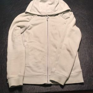 Lululemon classic cotton zip up hoodie.